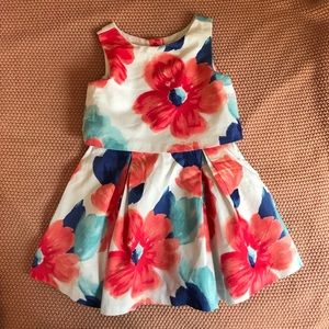 Janie and Jack 4t Floral Dress—like new!